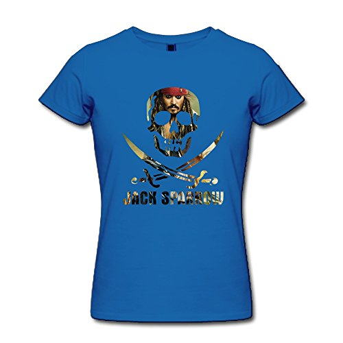 [AOPO Jack Sparrow Pirates Of The Caribbean T-shirt For Women X-Large RoyalBlue] (Book Week Costumes For Sale)