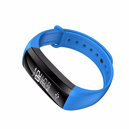 Price comparison product image Boofab Fitness Tracker,  M2S Activity Wristband : Bluetooth Wireless Smart Bracelet,  Waterproof Pedometer Activity Tracker Watch with Replacement Band for IOS & Android Smartphone (blue)