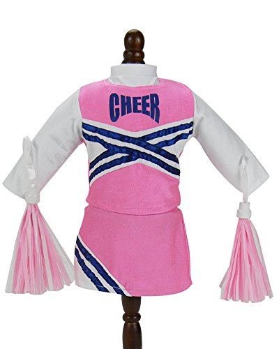 7ed13e4d88e Doll Cheerleader Outfit, Pink Cheerleader Doll Clothes/Clothing ...