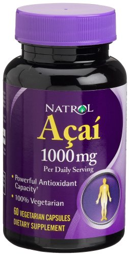 Nat-rul Health Acai Berry 1000mg 60 Capsules (Pack of 2)