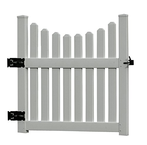 "48.5""W Vinyl Cottage Picket Gate"