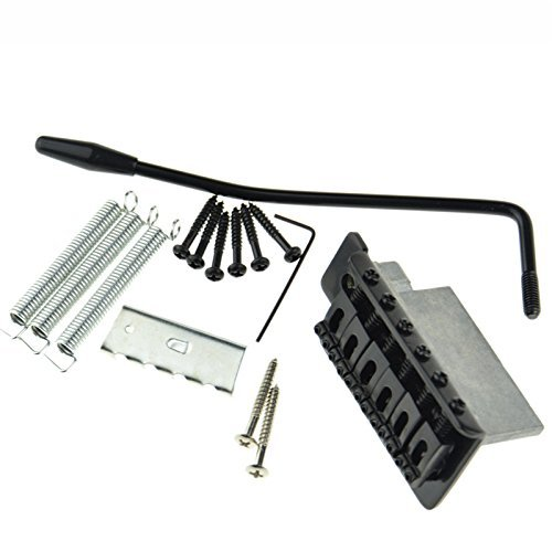 (Black Tremolo Bridge Set for Strat Electric Guitar SET Replacement)