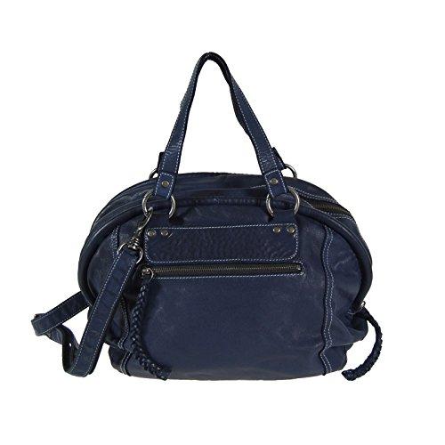 Brooklyn à New York en cuir XL Sac à bandoulière Shopper Bogy sac bleu
