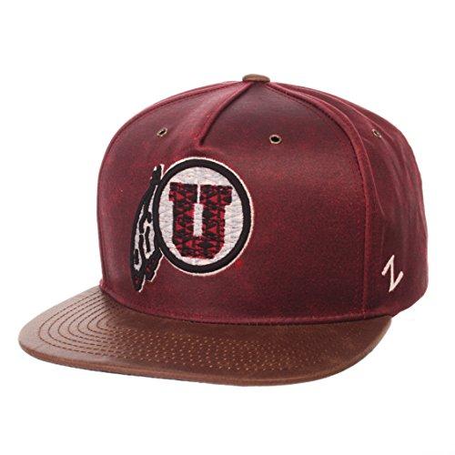 NCAA Utah Utes Adult Men Tribute Heritage Collection Hat, Adjustable, Team Color/Cracked - Satin Utes Utah