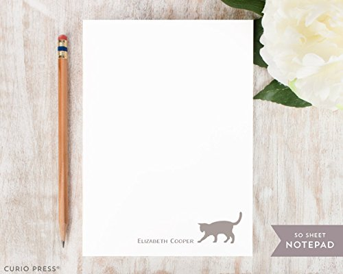 CAT NOTEPAD - Personalized Animal Stationery/Stationary Note Pad by Curio Press