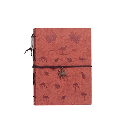 - Hongyushanghang Photo Album, Paste-Style Hand-Made Commemorative Traditional Photo Album, Classical Design, (can Accommodate 110 Photos, Brown Flamingo) Perfect (Color : B)