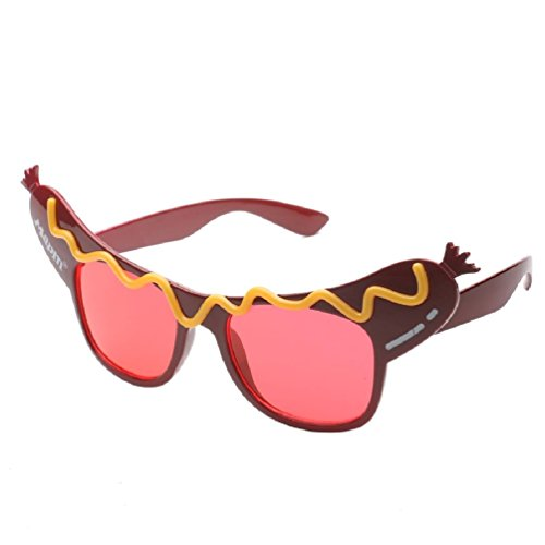 Creative Hotdog Glasses Novelty Sunglasses Fancy Dress Costume Party Glasses For Party Supplies Decoration -