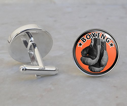 Boxing Sterling Silver Cufflinks