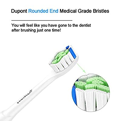 Toptheway Replacement Brush Heads Compatible with Philips Sonicare DiamondClean Electric Toothbrush HX6063/64, for Phillips Plaque Control, Gum Health, FlexCare, HealthyWhite and EasyClean, 8 PCS
