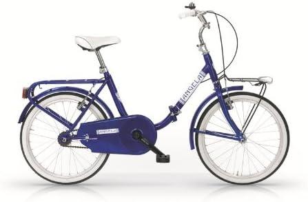 MBM Angela - Bicicleta plegable 24, estilo Graziella azul ...
