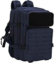 Sparklekle Military Tactical Backpack 45L 3 Day Assault Pack Waterproof Molle Hiking Rucksack for Men