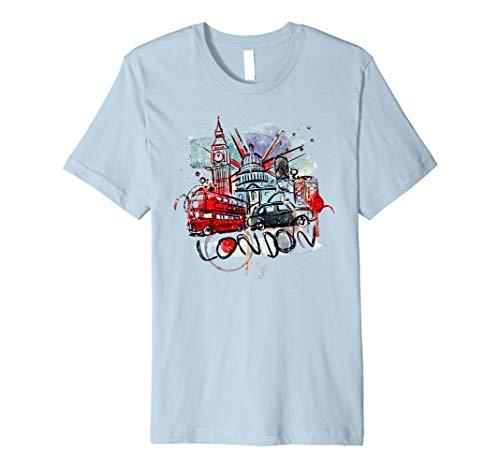 (Lovely London City Union Jack UK Flag Abstract Art T-Shirt)