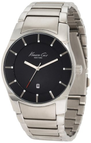 (Kenneth Cole New York Men's Japanese Quartz Stainless Steel Case Stainless Steel Bracelet Silver,(Model:KC3868))
