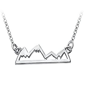 Mountain Necklace Jewelry For Avid Outdoor Lovers, Hikers, Skiers, Snowboarders, Climbing Enthusiasts