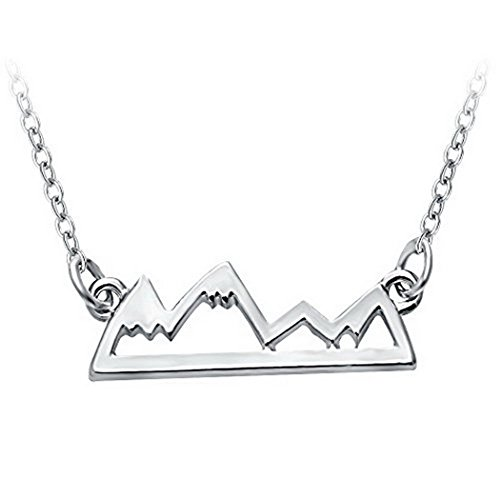 Mountain Necklace Jewelry For Avid Outdoor Lovers, Hikers, Skiers, Snowboarders, Climbing (Mountain Necklace)