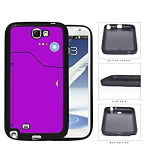 Pokedex Pocket Monsters Violet Rubber Silicone TPU Cell Phone Case Samsung Galaxy Note 2 II N7100