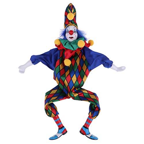 Baoblaze 41cm Clown Man Figure Doll Halloween Decoration Ornaments Home Table Desk Top Decor #3