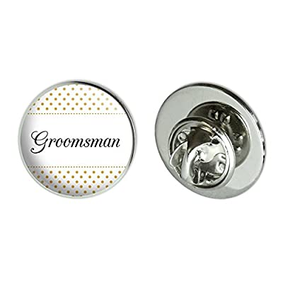 "Cheap Groomsman Wedding Elegant Polka Dots Metal 0.75"" Lapel Hat Pin Tie Tack Pinback supplier"