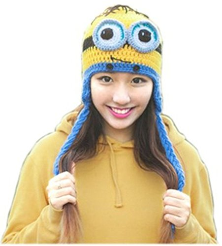 bcadf11ead9d4 ... Monster · Despicable Me 2 Dave Minion Knit Peruvian Beanie (Yellow) ·  Kafeimali Women s Crochet ...