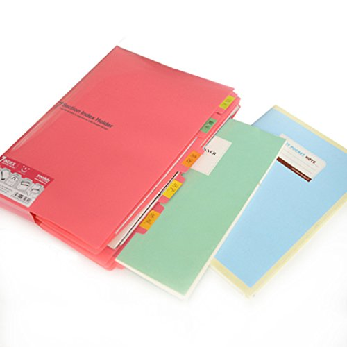Buy cheap document folder hmane section index holder size paper file bag organizer random color