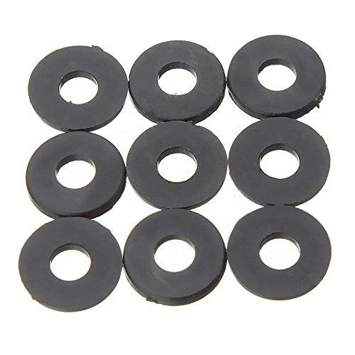 WOVELOT M3 x 6 mm x 1 mm Nylon flache Isolierscheiben Dichtungen Abstandhalter schwarz 200 Stuecke