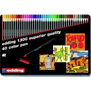 Edding Fasermaler edding 1300 color pen sortiert