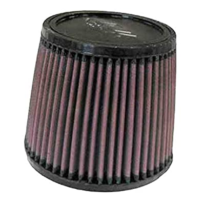 K&N Universal Clamp-On Air Filter: High Performance, Premium, Washable, Replacement Filter: Flange Diameter: 2.75 In, Filter Height: 5 In, Flange Length: 0.75 In, Shape: Round Tapered, RU-4450: Automotive