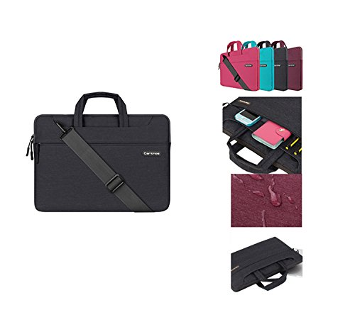 STONG Multi-functional Polyester Business Briefcase Suitable for 12.9 iPad Pro / 13.3 Inch Notebook / MacBook Air & Pro With Shoulder Strap and Versatile Carrying Laptop Sleeve Case Dark Grey