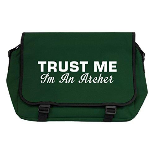 Trust Me I m An Archer Messenger Bag–Flasche Grün GQCNk