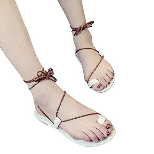 Femme sandales bohème chaussures plates Noir eu1yhCgE