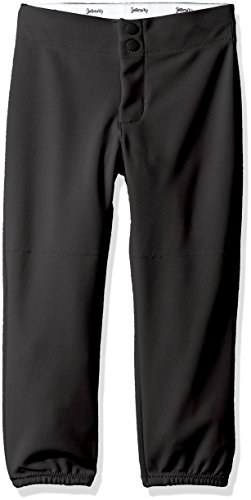 Intensity Girl's Low Rise Double Knit Pant, Youth, Large, Black