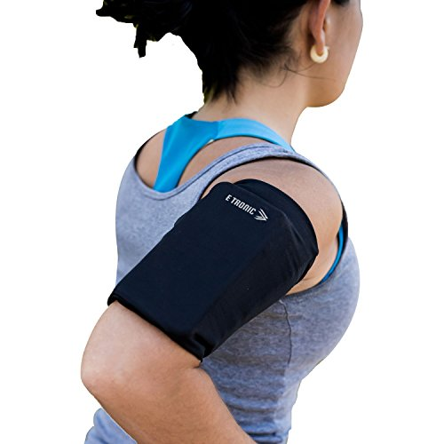 Phone Armband Sleeve Best Running Sports Arm Band Strap Holder Pouch Case for Exercise Workout Fits iPhone 5S SE 6 6S 7 8 Plus iPod Android Samsung Galaxy S5 S6 S7 S8 Note 4 5 Edge LG HTC Pixel MEDIUM from E Tronic Edge
