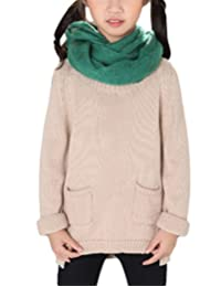 MFrannie Girl Korean Style Round Collar Loose Warm Pullover Sweater