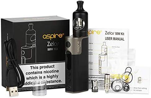 Cigarrillo electrónico, Aspire Zelos 50W Kit de vaporizador con 2500mAh Zelos Battery Mod y Nautilus 2 Atomizador Cigarrillo electrónico E-cigs Humo enorme, sin nicotina, sin líquido E (negro): Amazon.es: Salud y cuidado