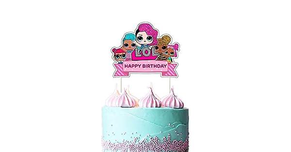 LOL Decoración para tarta y sombreros de fiesta, feliz ...