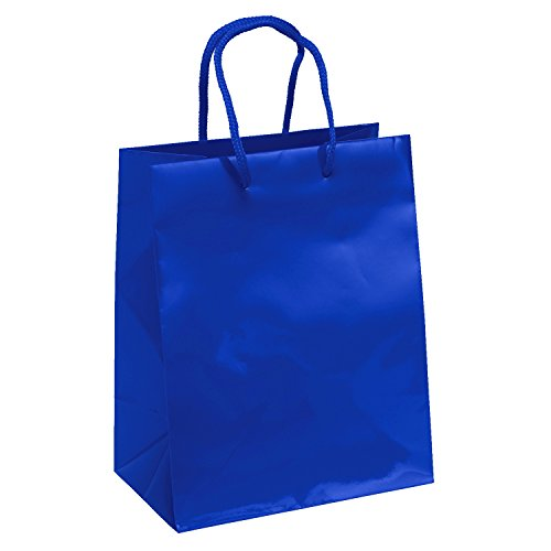25-Royal-Blue-Gloss-Laminated-Heavy-Paper-Tote-Bag-with-Soft-Cord-Handle-8x4x10