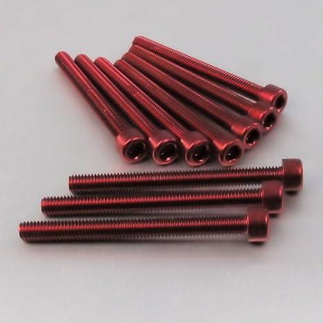 1.00mm Aluminium Allen Bolt M6 x x 65mm Pack x 10 Silver