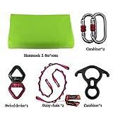 DASKING Premium Aerial Silks Equipment - Safe Deluxe Aerial Kit (Light Green)