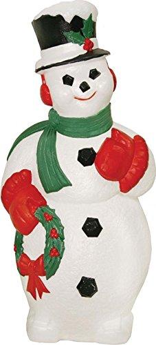 Outdoor Light Up Plastic Snowman