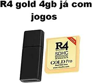cartão r4 gold pro +4gb com jogos