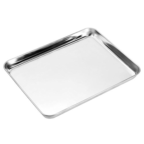Baking sheets and Rack Set, Zacfton Cookie pan with Nonstick Cooling Rack & Cookie sheets Rectangle Size 12 x 10 x 1 inch,Stainless Steel & Non Toxic & Healthy,Superior Mirror Finish & Easy Clean by Zacfton (Image #3)