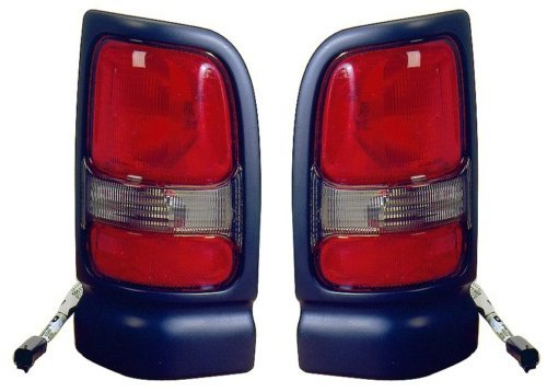 Dodge RAM Pickup (Sport Package) Replacement Tail Light Unit (Black) - 1-Pair