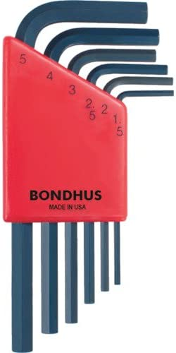 Bondhus 10946 Set of 6 Balldriver L-wrenches sizes 1.5-5mm