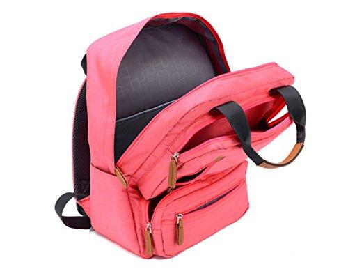 Große Kapazität Koreanische Version Wild Rucksack Weiblich College-Stil Lässig Minimalistisch Laptop-Tasche Männlich Outdoor Reise-Rucksack,Pink Lightblue