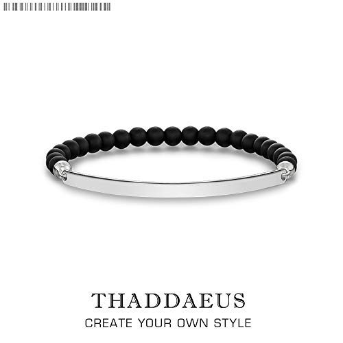 Bracelet Black Obsidian Beads,2019 Thomas Style Jewelry Tms Bijoux Gift for Ts Men & Women