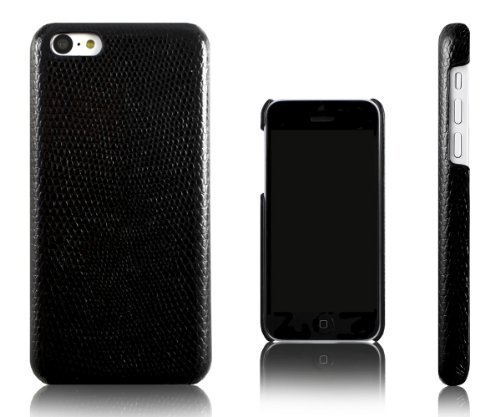 Xcessor Snake Skin Effect Case for Apple iPhone 5C. Black