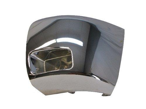 - 07-10 08 07 06 CHEVY SILVERADO 2500 3500 FRONT BUMPER CAP/END CHR W/FOG HOLE LH