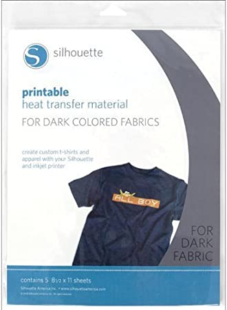 It is a graphic of Silhouette Printable Heat Transfer within dark fabrics