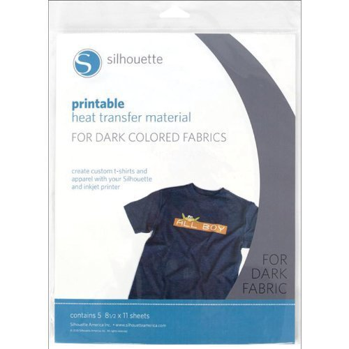 Silhouette Heat-Print-DK Printable Heat Transfer Material for Dark Fabrics