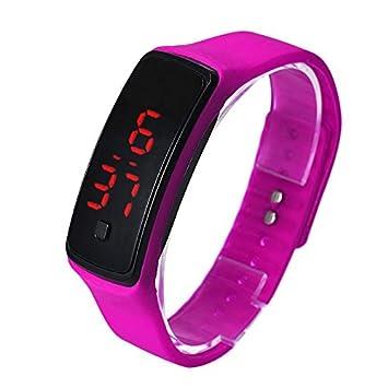WMWMY La Moda de Silicona Ultra Thin Pulsera Reloj de Pulsera de Mujer Relojes Deportivos para Hombres Reloj Digital WED Reloj de Pulsera Niña Deportes ...